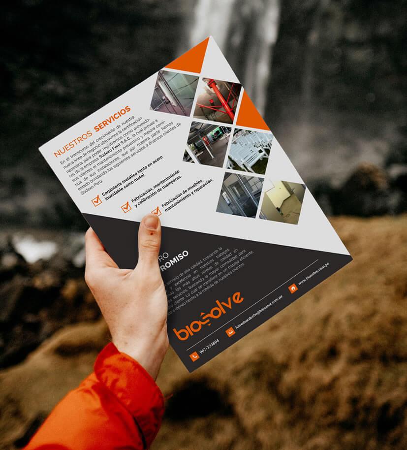 diseño de brochure empresarial